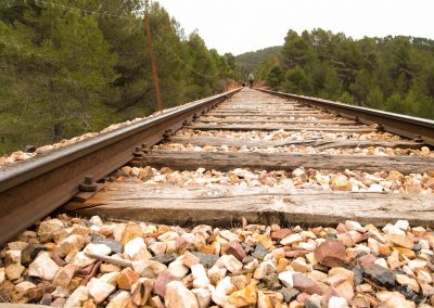 El camino del ferrocarril